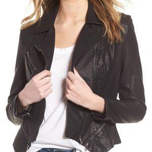 Faux Leather Moto Jacket Size 2 (XS)